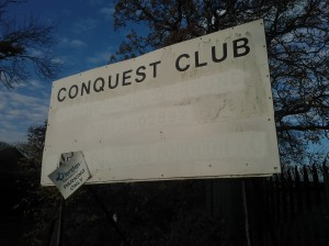 141129 Conquest Club sign