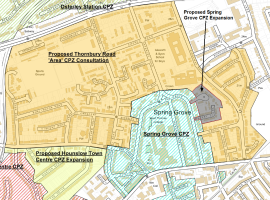 Click on image to download pdf file for a full map of the proposed CPZs