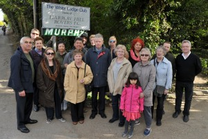 Some of the Osterley folk who saw the Education Funding Agency off our land                                          Picture courtesy getwestlondon.co.uk
