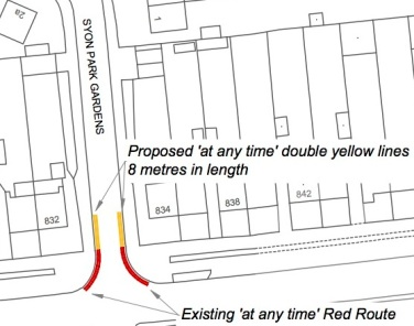 150920 Syon Park Gardens, Isle - Proposed Waiting Restrictions