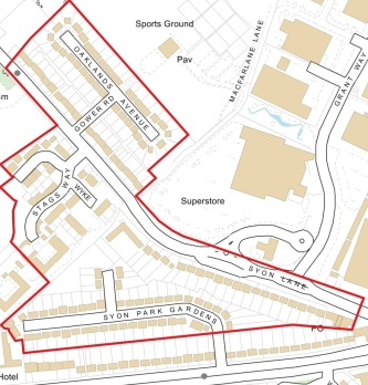 North of Great West Road parking consultation area