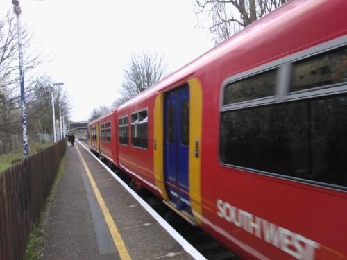 Train at Syon Lane
