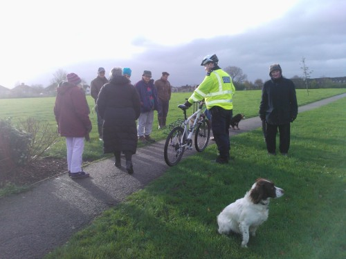 Folk out on the Thornbury Park walk on Saturdaymorning 21 November 2015