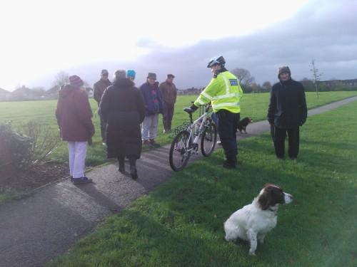 Folk out on the Thornbury Park walk on Saturdaymorning 21 November 2015