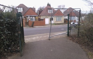 Stolen gate on St Mary's Crescent to be securely replaced