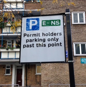 Permit holders only past this point sign proposed for Ravenswood Gardens and Naseby Close. These negate the need for bays marking.
