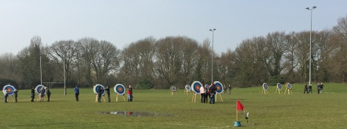Greenwood Osterley Archers on a Sturday morning shoot at Macfarlane Lane
