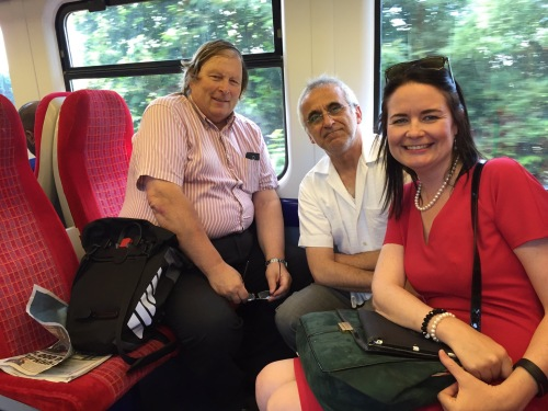 Councillors Guy Lambert, Tony Louki and Sam Christie on the 10.44 Hounslow Loop from Chiswick to London Waterloo for our TfL meet