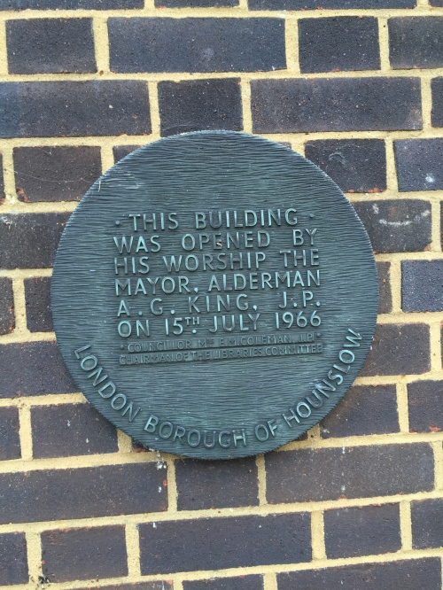 Osterley Library opened by past Labour strongman Alf King 50 years ago