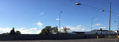 Former Syon Gate Garage site from Gillette Corner, Isleworth