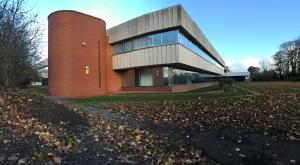 Hounslow Civic Centre from Lampton Park